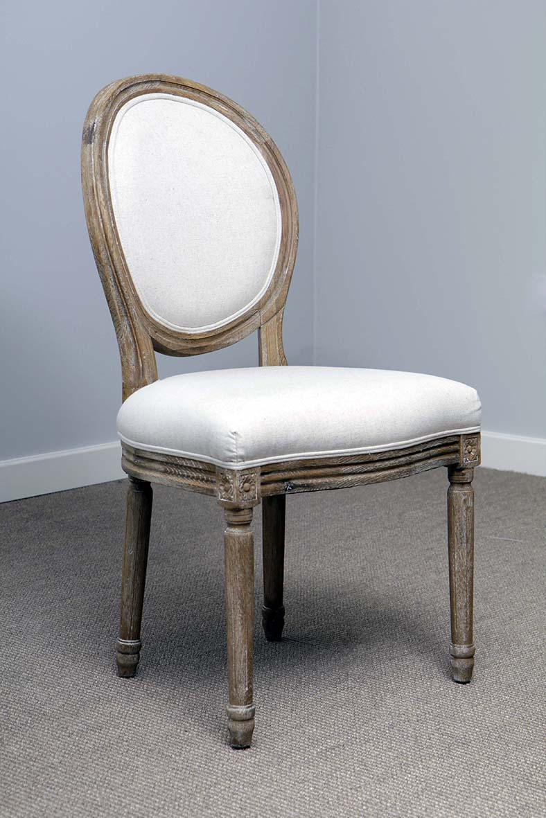 Abella French Limed Oval Back Chair