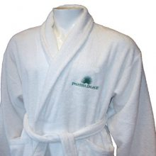 Bliss Luxury 500g Shawl Collar Bathrobe White