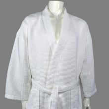 Joy Waffle Bathrobes 100% Cotton Pearl White
